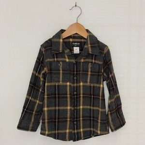 OshKosh b'gosh flannel/plaid shirt  4t